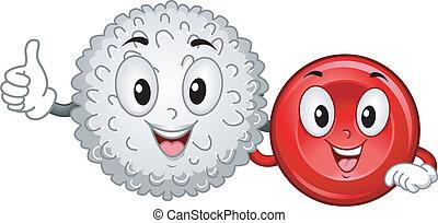 Mascotas de células sanguíneas