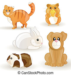 mascotas de vector