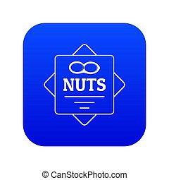 Material de construcción azul icono