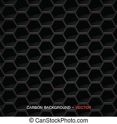Material de fibra de carbono, vector