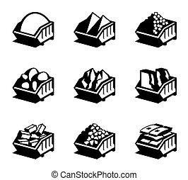 materiales de construcción, contenedores