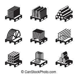Materiales de construcción de metal