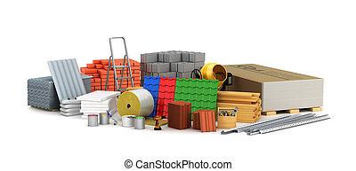 Materiales de construcción. Ilustración 3D
