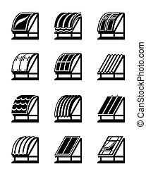Materiales de construcción modernos para los techos