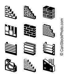 Materiales de construcción para paredes