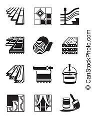 Materiales de decoración para el interior