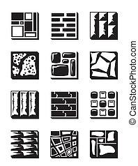 Materiales de decoración para exteriores