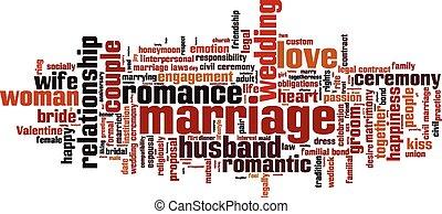 matrimonio, palabra, nube