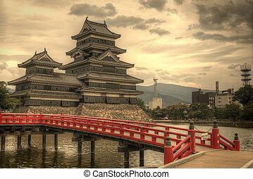 matsumoto, japón, castillo, matsumoto