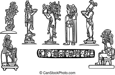 maya, grupo, templo
