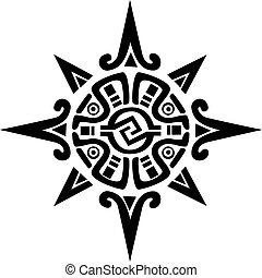 Mayan o Inca, símbolo de un sol o estrella