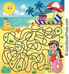 Maze 28 con tema de playa 1