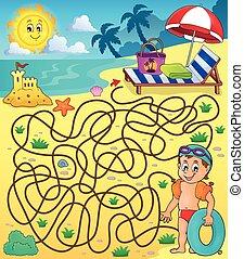 Maze 28 con tema de playa 2