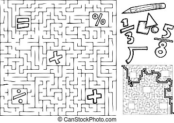 Maze matemático