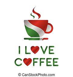 Me encanta el café, una taza de café