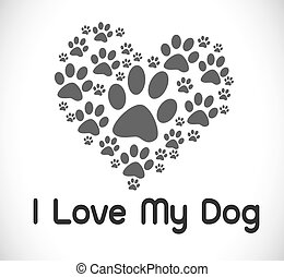Me encanta el símbolo del perro y el perro lindo