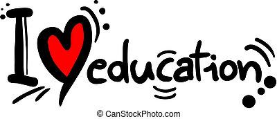 Me encanta la educación