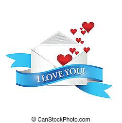 Me encanta tu correo. Diseño de ilustración