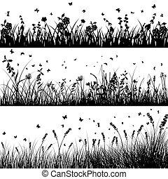 Meadow silueta puesta