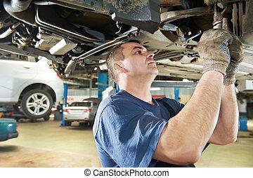 mecánico de autos en reparaciones de autos