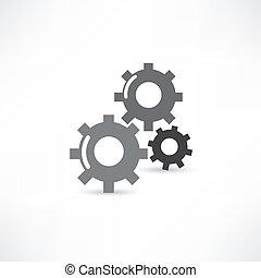 mecánico, icono