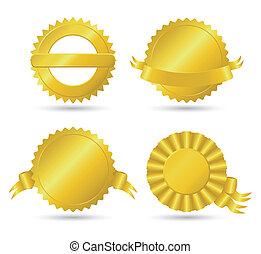 medallones, dorado