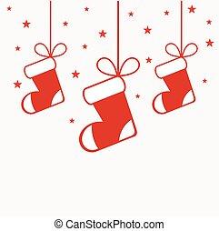 medias de navidad, ahorcadura