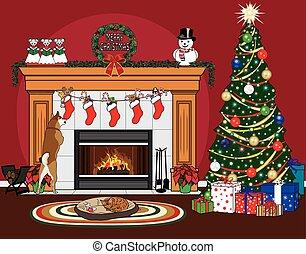medias, navidad, mascotas