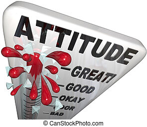 medición, positivity, actitud, éxito, termómetro