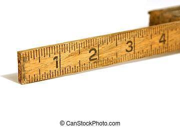 medición, viejo, regla, arriba, /, cinta, cierre