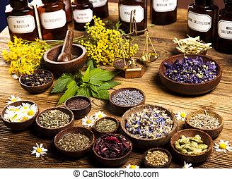 Medicina alternativa, hierbas secas