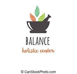 Medicina alternativa y bienestar, yoga - vector de icono acuarela, logo