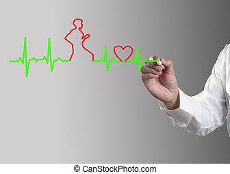 Medicina, dibujo de manos