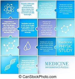 Medicina plana, diseño infgráfico.