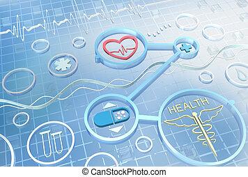 medicina, resumen, -, plano de fondo