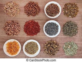 medicinal, mágico, hierbas