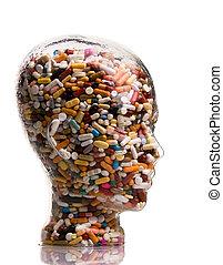Medicinas y pastillas para curar enfermedades