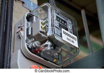 Medidor eléctrico en casa