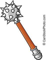Medieval mace mace - arma antigua