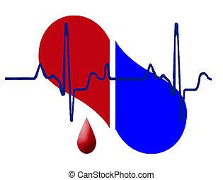 Medio corazón y latidos