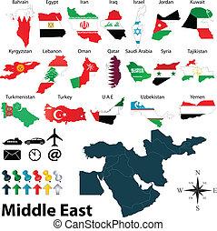 medio oriente, mapas