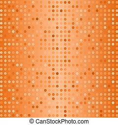 Medio patrón. Puntos en el fondo naranja.