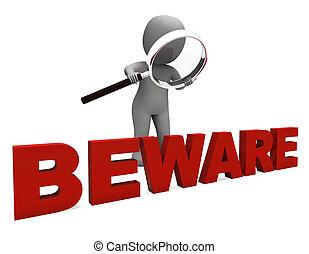medios, peligroso, tenga cuidado, carácter, advertencia, precaución, o