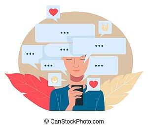 medios, red, internet, social, comunicación