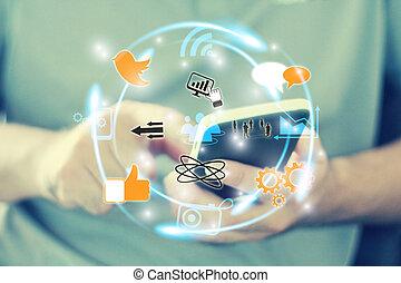 Medios sociales, concepto de red social