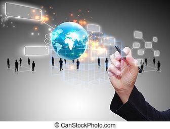 Medios sociales, concepto de red social.