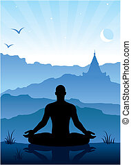 Meditación en las montañas