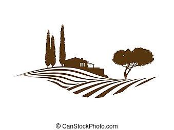 Mediterráneo paisaje rural