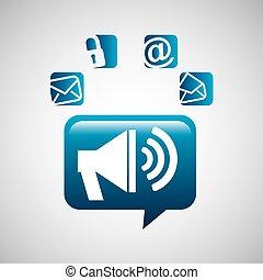 Megáfono habla de redes sociales
