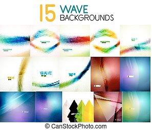 Mega colección de antecedentes abstractos de ondas borrosas